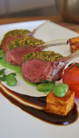 New Zealand Rack of Lamb Dish from Chef Brendan in Queenstown